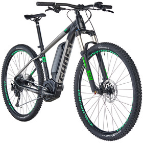"Ghost Hybride Teru B 4.9 AL 29"", jet black/urban gray/riot green"